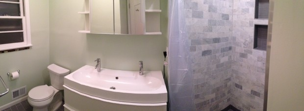 Master bathroom pano