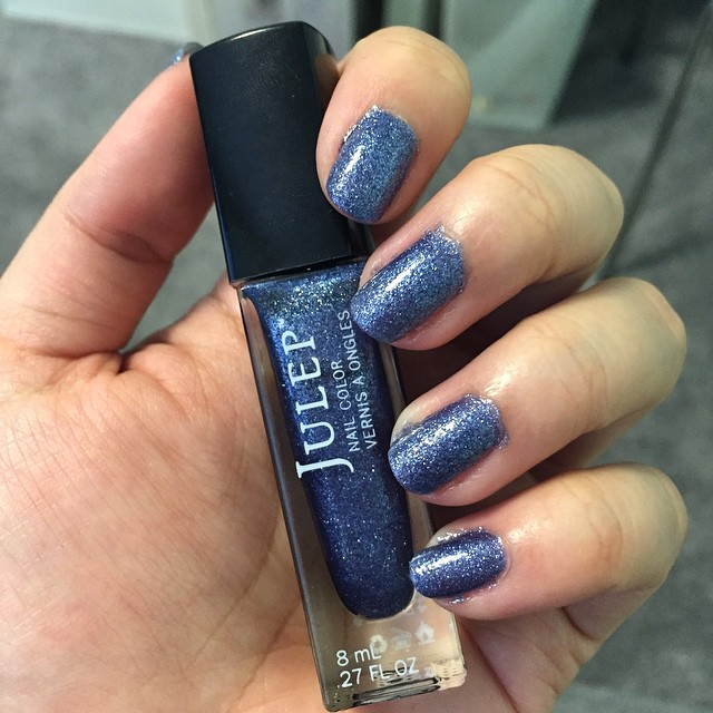 This week's nails: sea salt textured blue-gray.