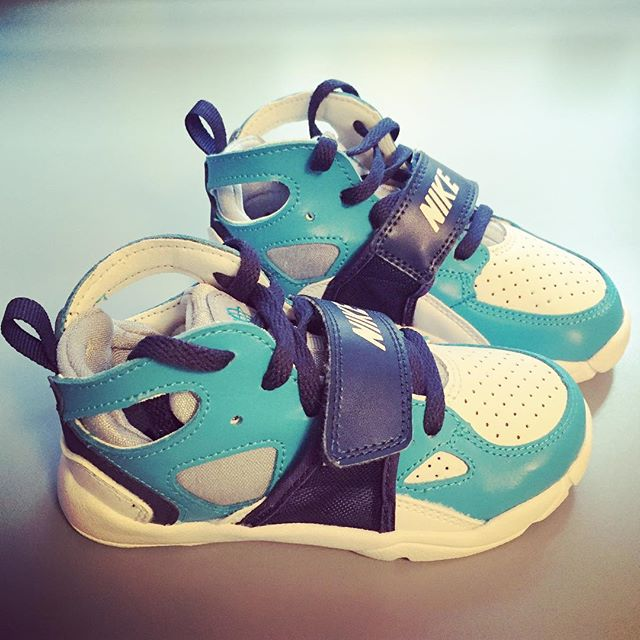 A cousin also bought these shoes for the kid - seriously, how fly can you get?