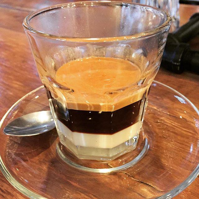 Café Bombón: espresso + condensed milk.  #latergram