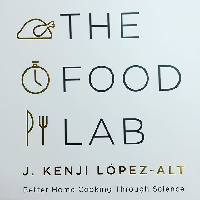 My copy of The Food Lab is here and it's gorrrrgeous and I can't wait to consume it