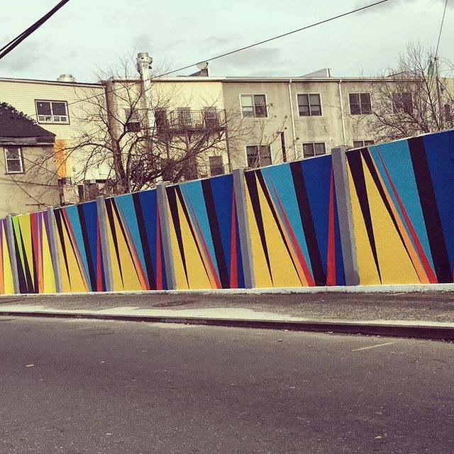 Even concrete barriers are getting the mural treatment around here. #jerseycityart