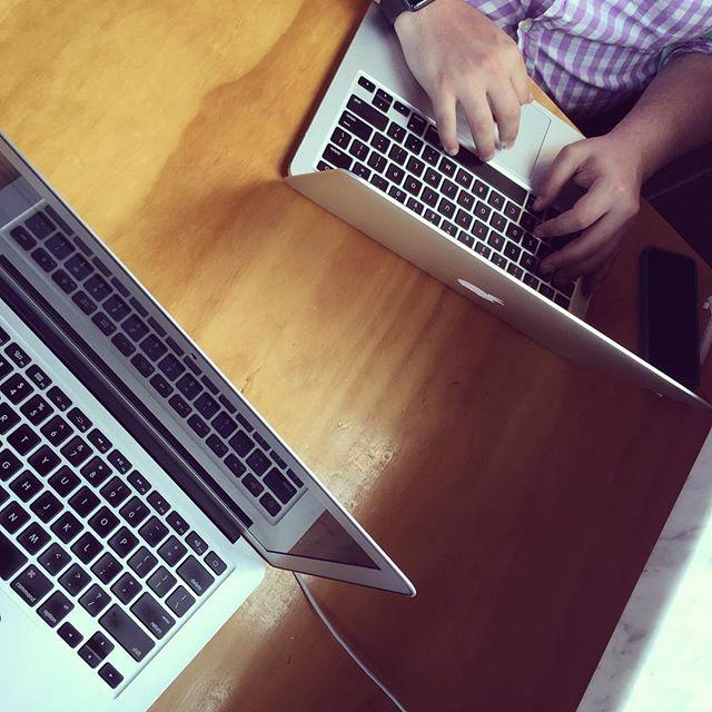 Coworking with @aaronjorbin!
