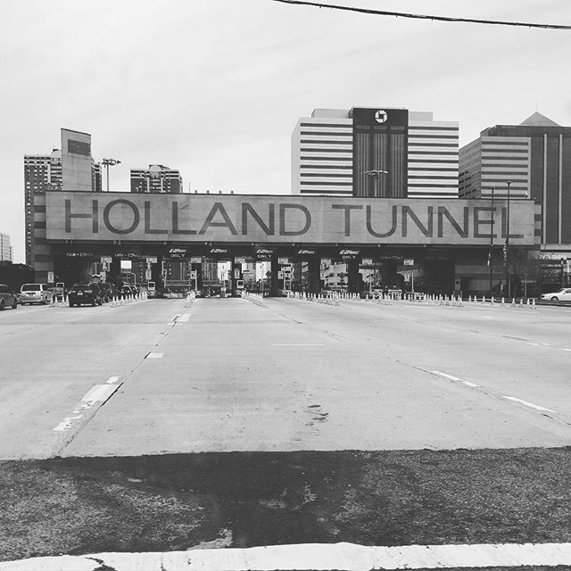 Caught a rare moment of quiet at the Holland Tunnel the other day.