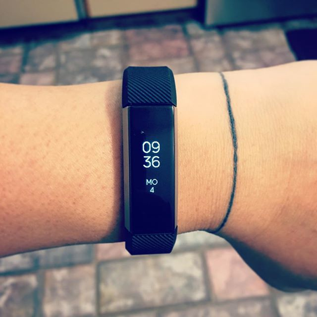 Got a Fitbit Alta today, so far I am liking it. Hope I stick to keeping it on.