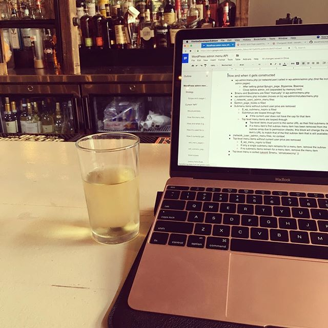 Prosecco and working at the bar because Friday.
