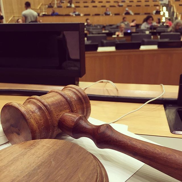 Oh just speaking at the UN with a gavel in front of me, no biggie.