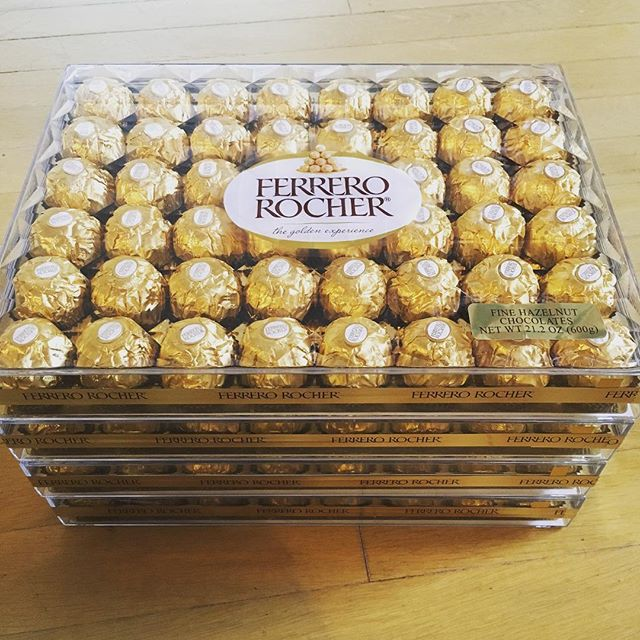 When the Ferrero Rocher is on sale and you know family will be mad if you don't buy one for each. #chinesechristmas
