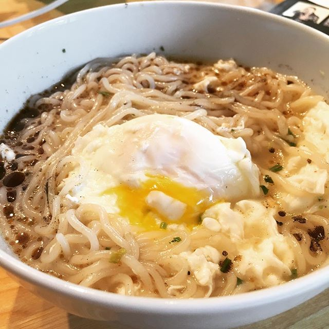 New instant ramen today: black garlic tonkotsu.