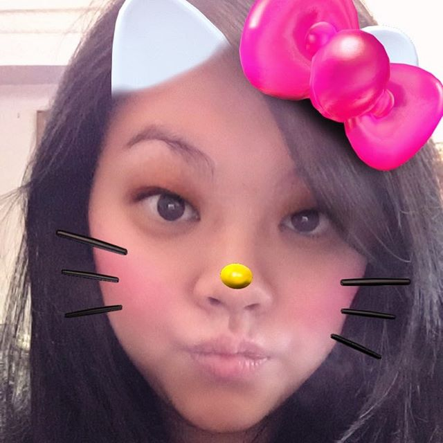 I was clearly meant to exist as a Snapchat Hello Kitty.
