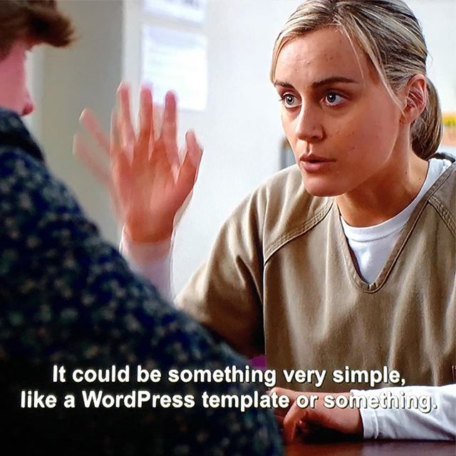 Finally got to see the WordPress mention on Orange is the New Black myself.