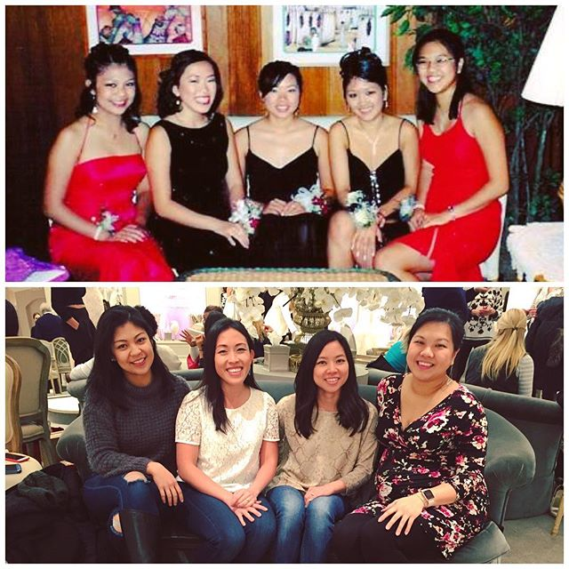 From 2003 to 2017; or, from prom to wedding dresses. Wish you were here, @lynnnnlynnnlynn.