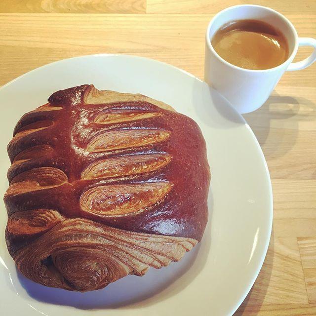 Nutella croissant and espresso