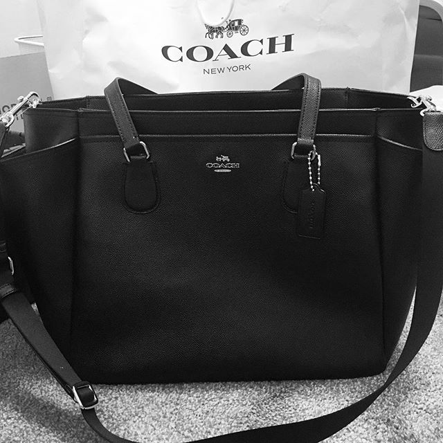"‪""You're the last woman in our family without a Coach bag so here's a fancy diaper bag."" — my mother‬"
