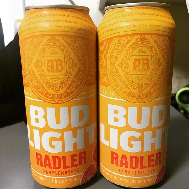 The very kind @samuelsidler brought me Bud Light Radler from Canada to try. Will it be great or terrible?