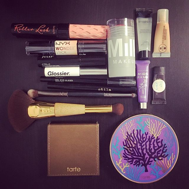 Inspired by sehurlburt and amyngyn, I snapped a picture of my current makeup kit. Worth a blog post?