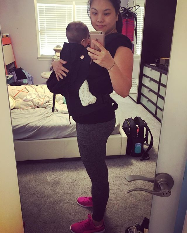 My best accessory is a baby carrier because it makes me look like I'm in shape (I'm not).