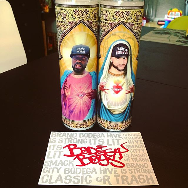 ‪Oh shit husband surprised me with @desusandmero prayer candles for whenever I need that sana sana  #bodegahive‬
