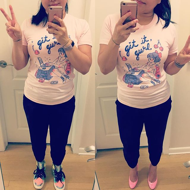 I don't usually color coordinate shoes+outfit but I think @sailorhg's #gititgurl shirt is a worthy exception