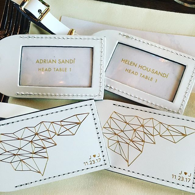 Digging these luggage tags as wedding favors/seating cards.