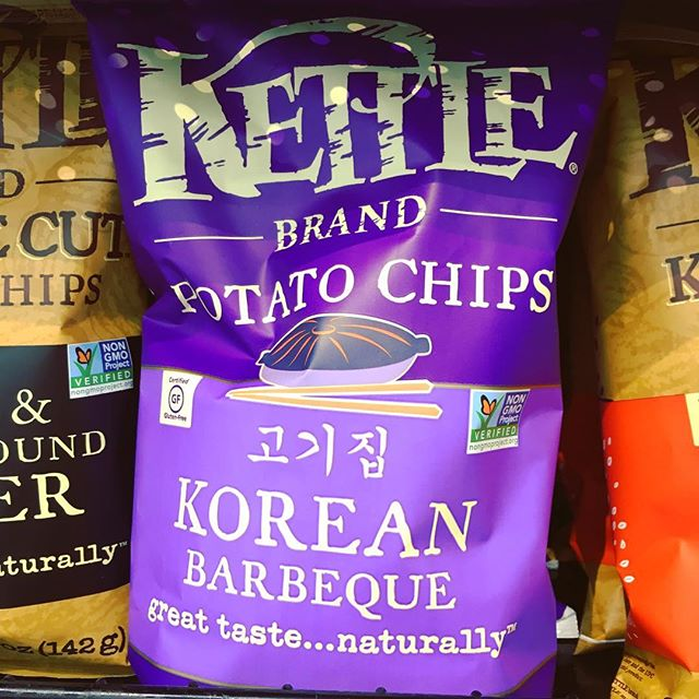 Korean barbecue kettle chips: not bad!