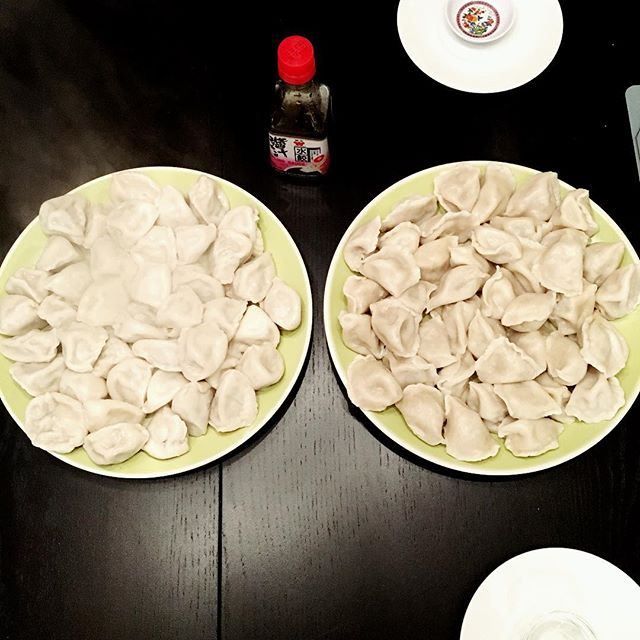 Not homemade this time, but a dumpling party is still a dumpling party. 🥟