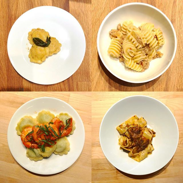 Made a NYE four-course pasta tasting for six. A lot of work but so good!