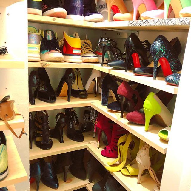 Yeah so maybe I am standing here gazing lovingly into our shoe closet, what of it?