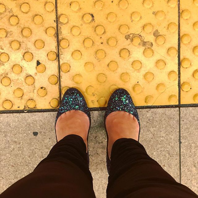 Let's find out how well my DIY glitter job holds up to a trek around Manhattan.