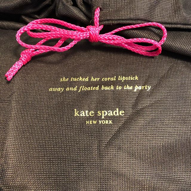 Putting some of my bags away and... #rip #katespade