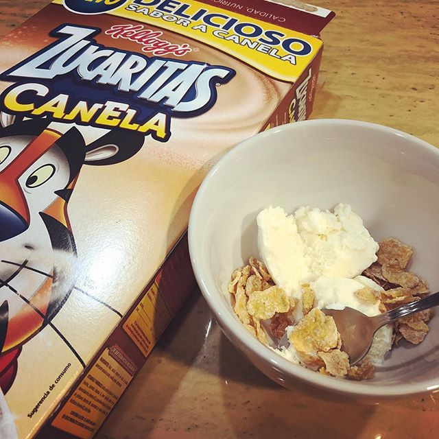Rice Chex remains my favorite ice cream topping but Cinnamon Frosted Flakes are also extremely good.