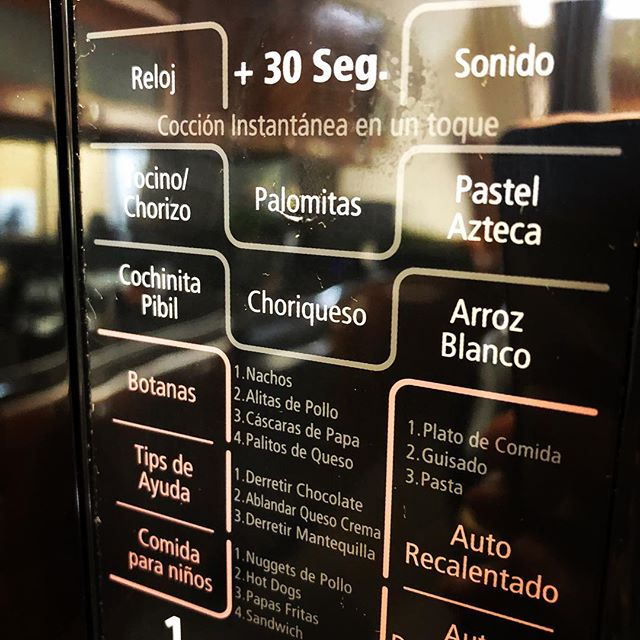 Microwave localization is fascinating. A setting for choriqueso!