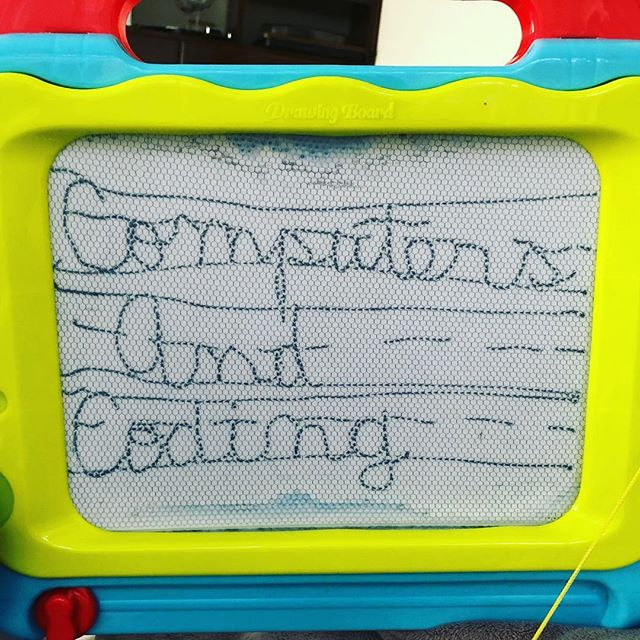 """Mommy do you want to see how to write Computers And Coding in cursive?"" - my 5yo, who manages to blow my mind every day"