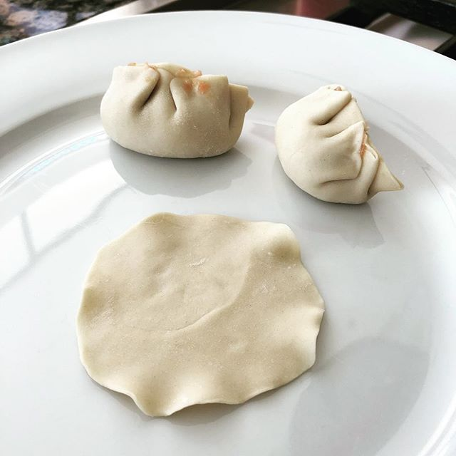 Tried making my own dumpling wrappers for the first time