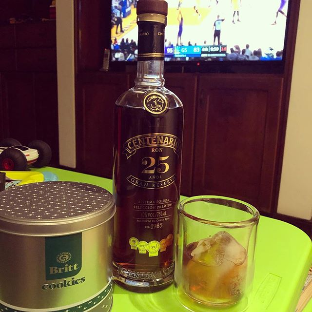 NBA, rum, and cookies: a solid end to a solid Christmas.