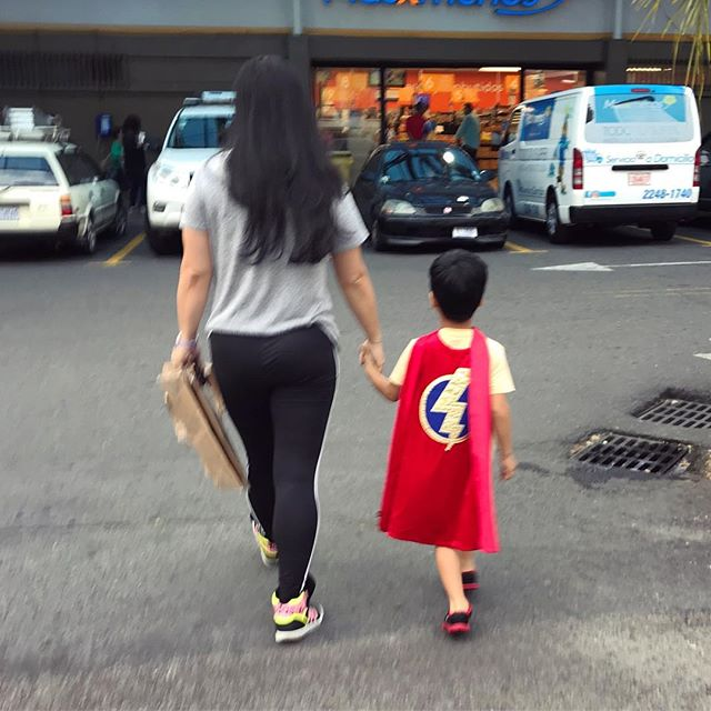 Grocery shopping with my own personal superhero