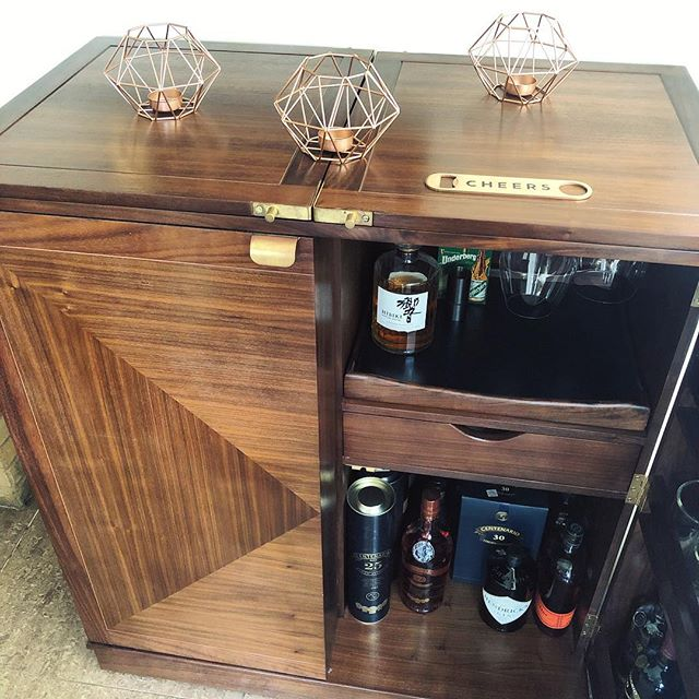 Just standing here admiring my bar cabinet like a totally normal person