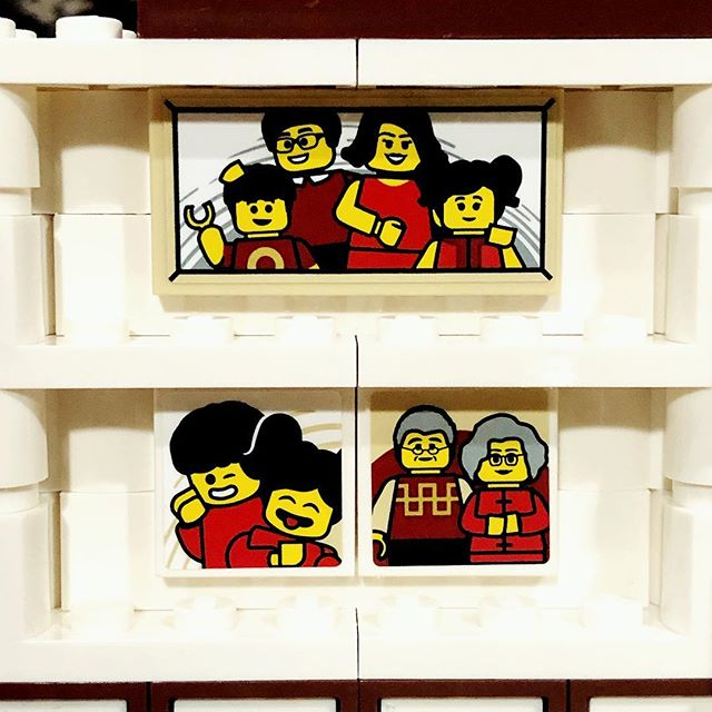 """Mommy I like these LEGO pictures the best because they look like my family"" 🥰"