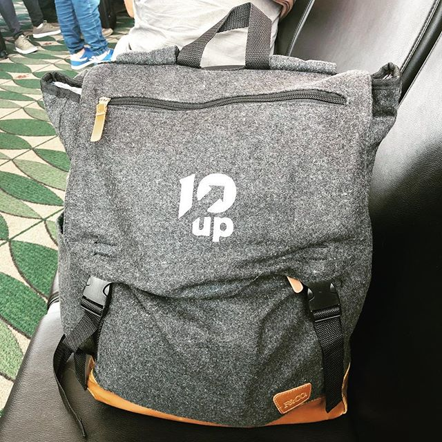 Bringing my new work buddy with me on a one day trip to the US. #team10up #10upworldwide