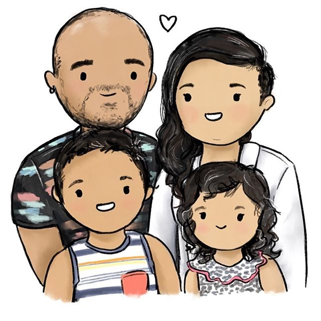 Coming home from a trip on Mother's Day to the purest excitement of my darling babies is such a joy. Thank you to @daybrighten for this illustration of me and my loves!