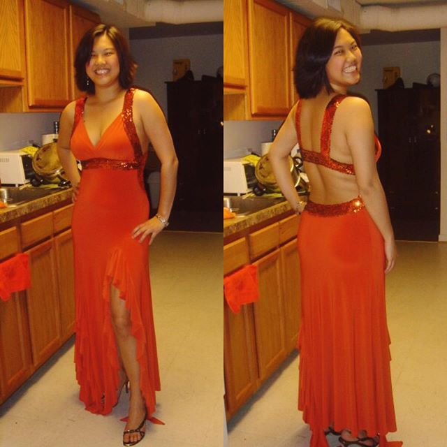 #tbt my senior recital dress - I looked amazing??? Paving the way for Yuja Wang, clearly.