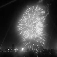 a group of fireworks in the sky