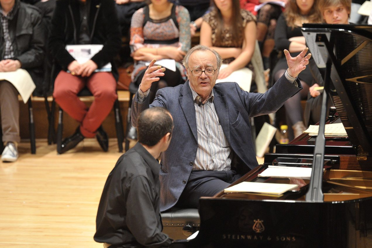 Alfred Brendel giving a masterclass
