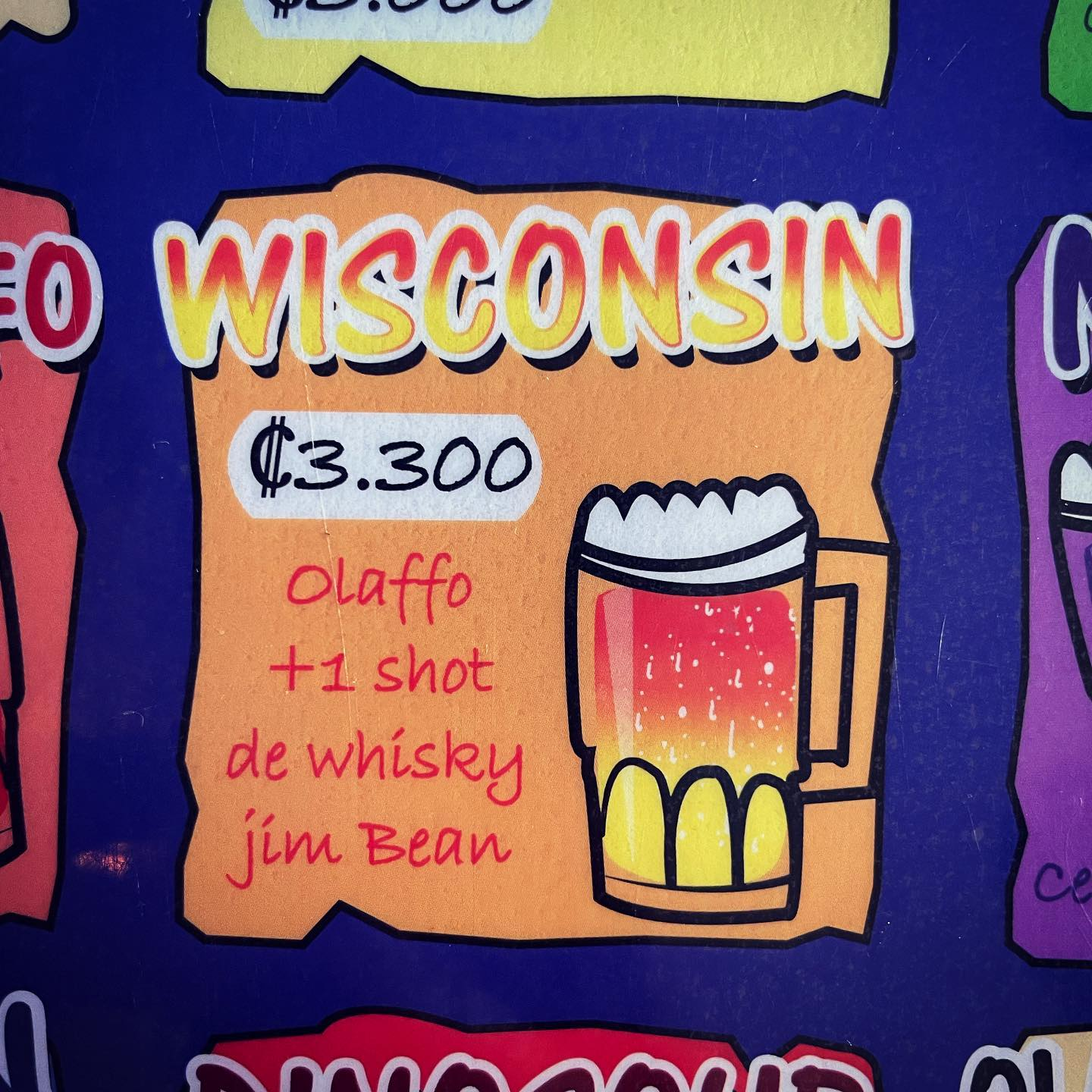 Everything I know about Wisconsin I learned from this drink menu