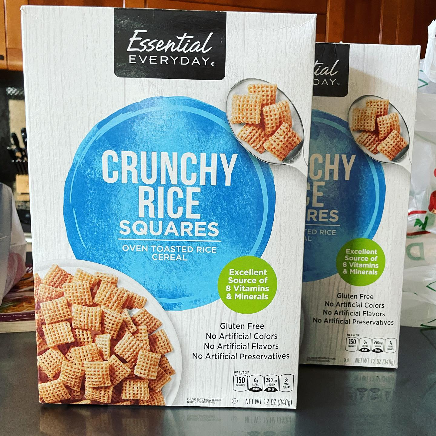 My absolute favorite snack slash ice cream topping remains Rice Chex and today I finally found something close enough here!