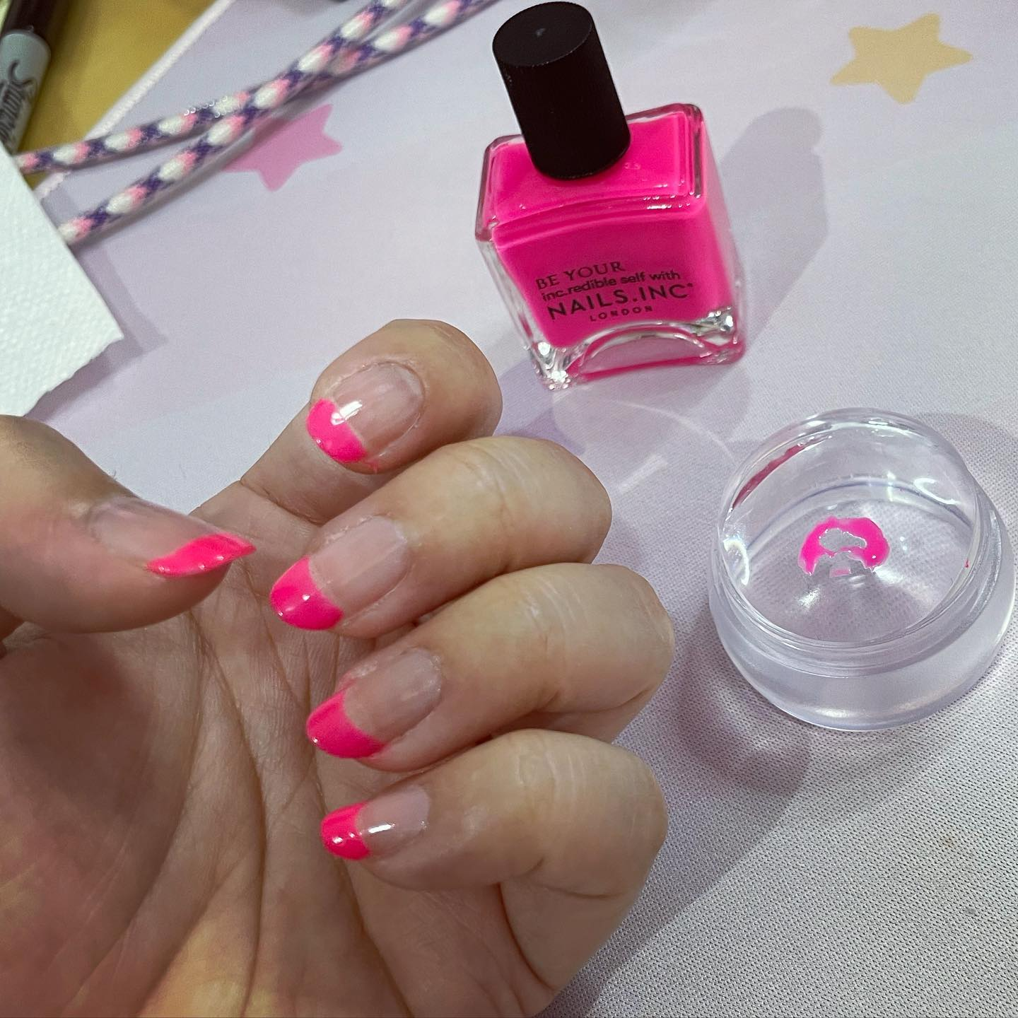 That TikTok-popularized trick for doing French manicures totally works 🤯
